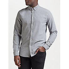 Buy Samsoe & Samsoe Liam Oxford Shirt, Salt Pepper Online at johnlewis.com