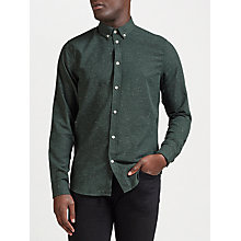 Buy Samsoe & Samsoe Liam Long Sleeve Shirt, Pine Melange Online at johnlewis.com