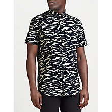 Buy Samsoe & Samsoe Vento Geo Print Shirt, Blue Monsum Online at johnlewis.com
