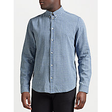 Buy Samsoe & Samsoe Liam Long Sleeve Shirt, Light Blue Check Online at johnlewis.com