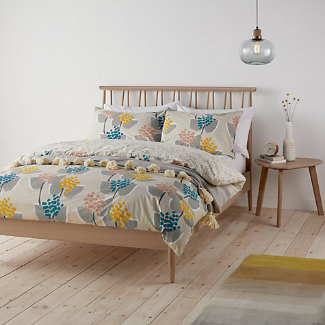 John Lewis Stellan Print Cotton Duvet Cover And Pillowcase Set Online At Johnlewis