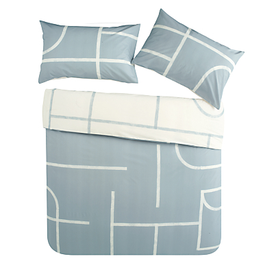 House by John Lewis Track Print Cotton Duvet Cover and Pillowcase Set