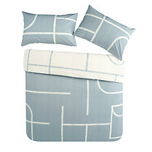 Buy House by John Lewis Track Print Cotton Duvet Cover and Pillowcase Set Online at johnlewis.com