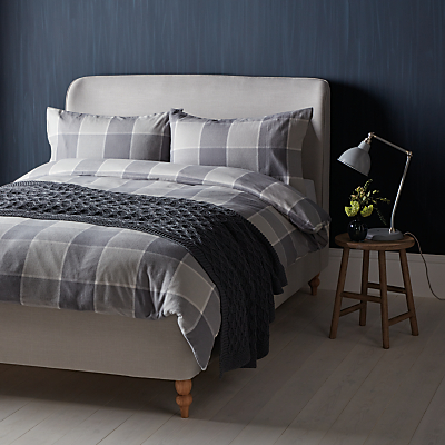 John Lewis Window Check Brushed Cotton Duvet Cover and Pillowcase Set