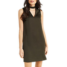 Buy Oasis Choker V-Neck Dress, Khaki Online at johnlewis.com