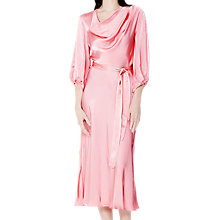 Buy Ghost Astrid Satin Dress, Cameo Pink Online at johnlewis.com