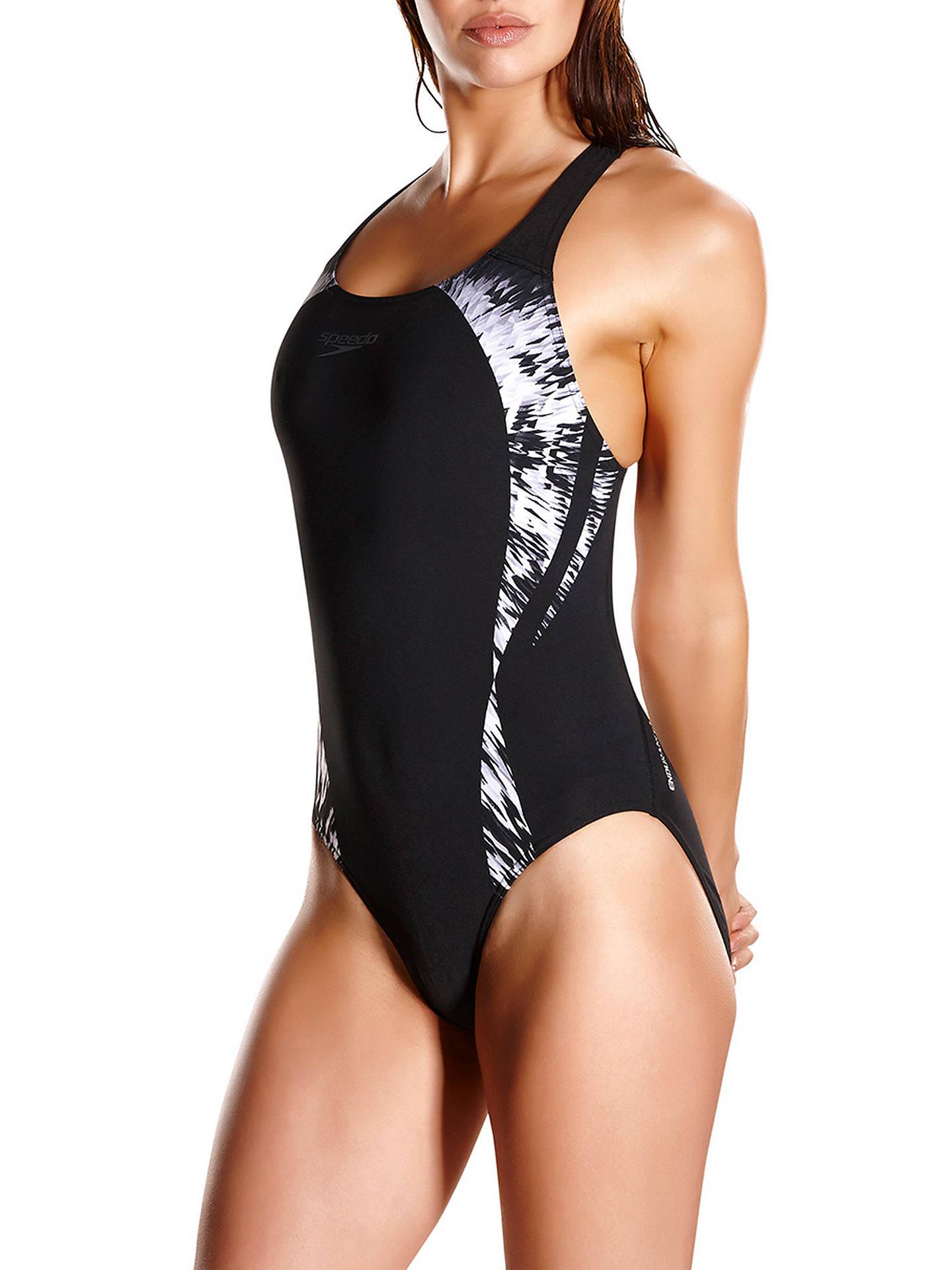 Cosmic Motion Placement Powerback Speedo Swimsuits Black