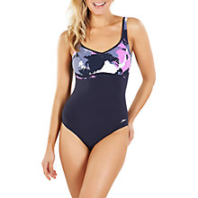 Buy Speedo Sculpture Contourluxe One Piece Swimsuit, Navy/Purple Online at johnlewis.com