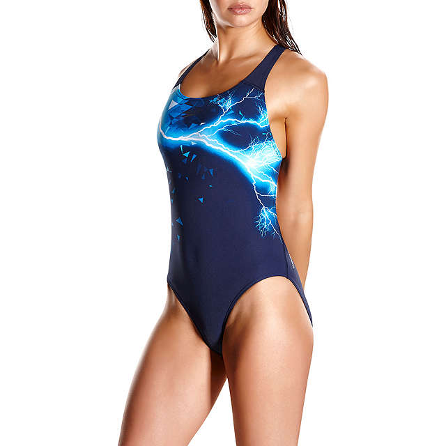 BuySpeedo Groove Glow Placement Powerback, Navy, 32 Online at johnlewis.com