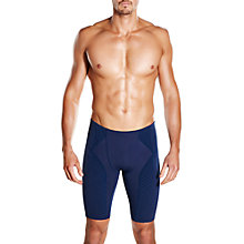 Buy Speedo Fit Power Form Jammers Swimming Shorts, Navy Online at johnlewis.com