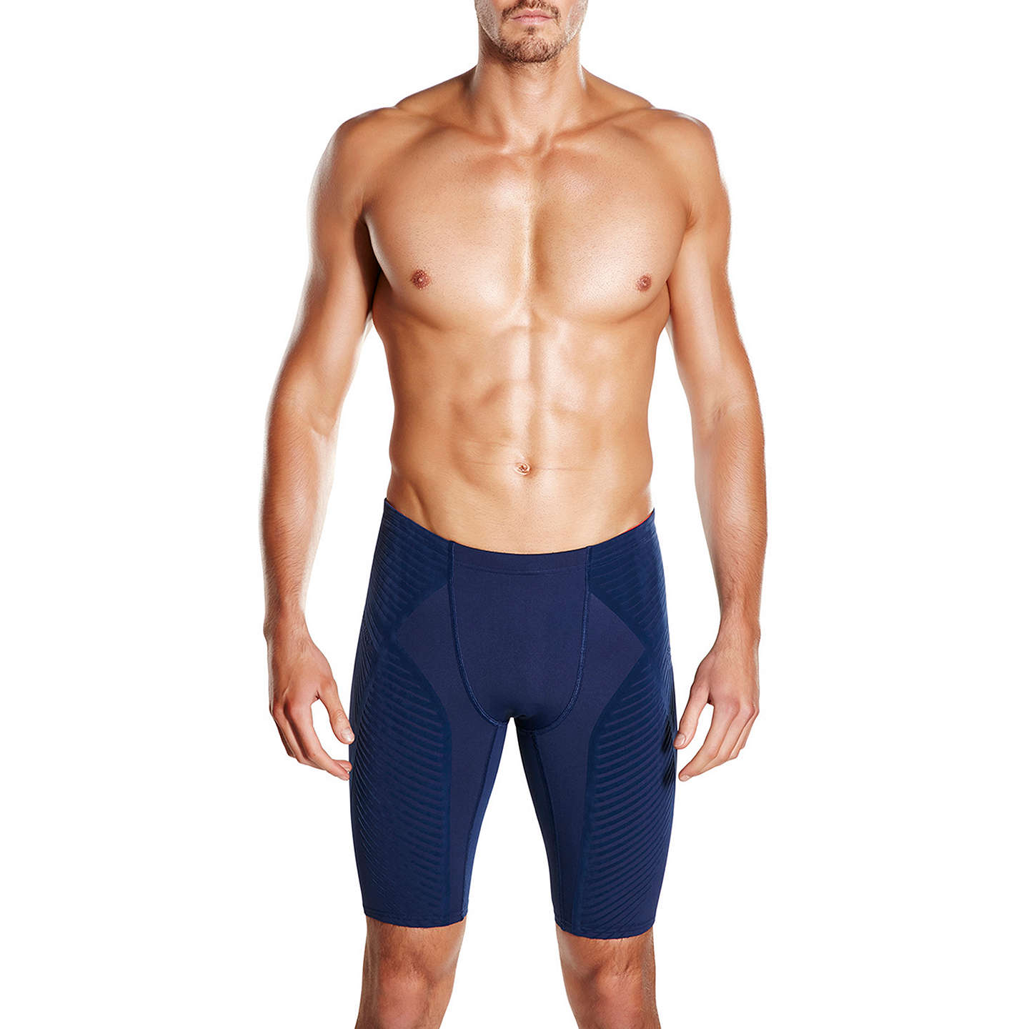 BuySpeedo Fit Power Form Jammers Swimming Shorts, Navy, 36 Online at  johnlewis.com ...