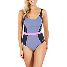 Buy Speedo Sculpture CrystalGleam One Piece Swimsuit, Navy/Grey Online at johnlewis.com