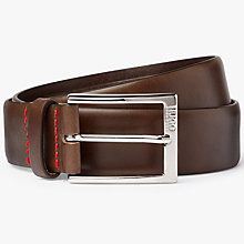 Buy HUGO by Hugo Boss C-Gerron Leather Belt, Brown Online at johnlewis.com