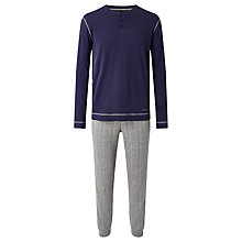 Buy BOSS Long Sleeve T-Shirt and Lounge Pants Pyjama Set, Navy/Grey Online at johnlewis.com