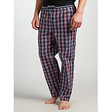 Buy BOSS Urban Check Lounge Pants, Navy/Multi Online at johnlewis.com