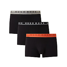 Buy BOSS Logo Trunks, Pack of 3, Black Online at johnlewis.com