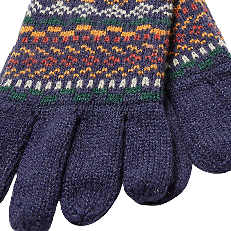 Buy John Lewis Fairisle Gloves, Multi | John Lewis