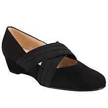 Buy Peter Kaiser Jeska Wedge Heeled Court Shoes, Black Online at johnlewis.com