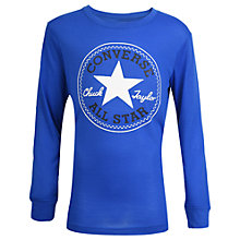 Buy Converse Boys' Long Sleeved Chuck Sweatshirt, Blue Online at johnlewis.com