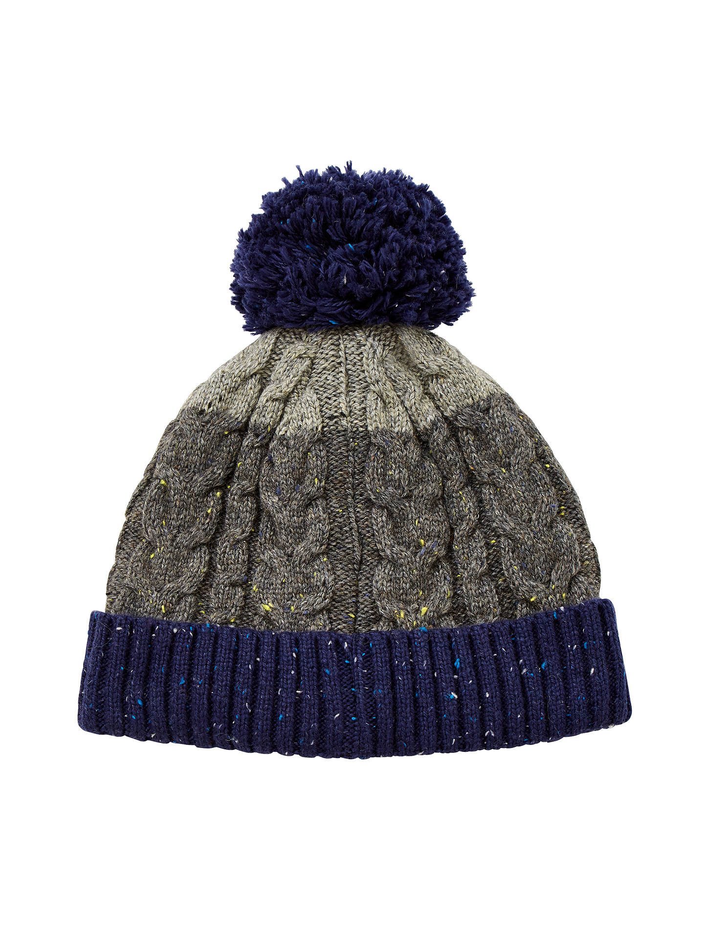 8df44220f43 BuyJohn Lewis Flecked Cable Knit Bobble Hat