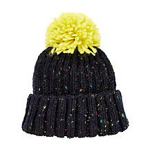 Buy John Lewis Multi Fleck Bobble Hat, Navy Online at johnlewis.com