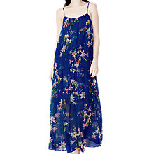 Buy Ghost Aude Seline Bloom Maxi Dress, Blue Online at johnlewis.com