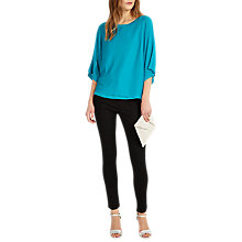 Buy Phase Eight Gisella Double Layer Jumper, Aqua Online at johnlewis.com