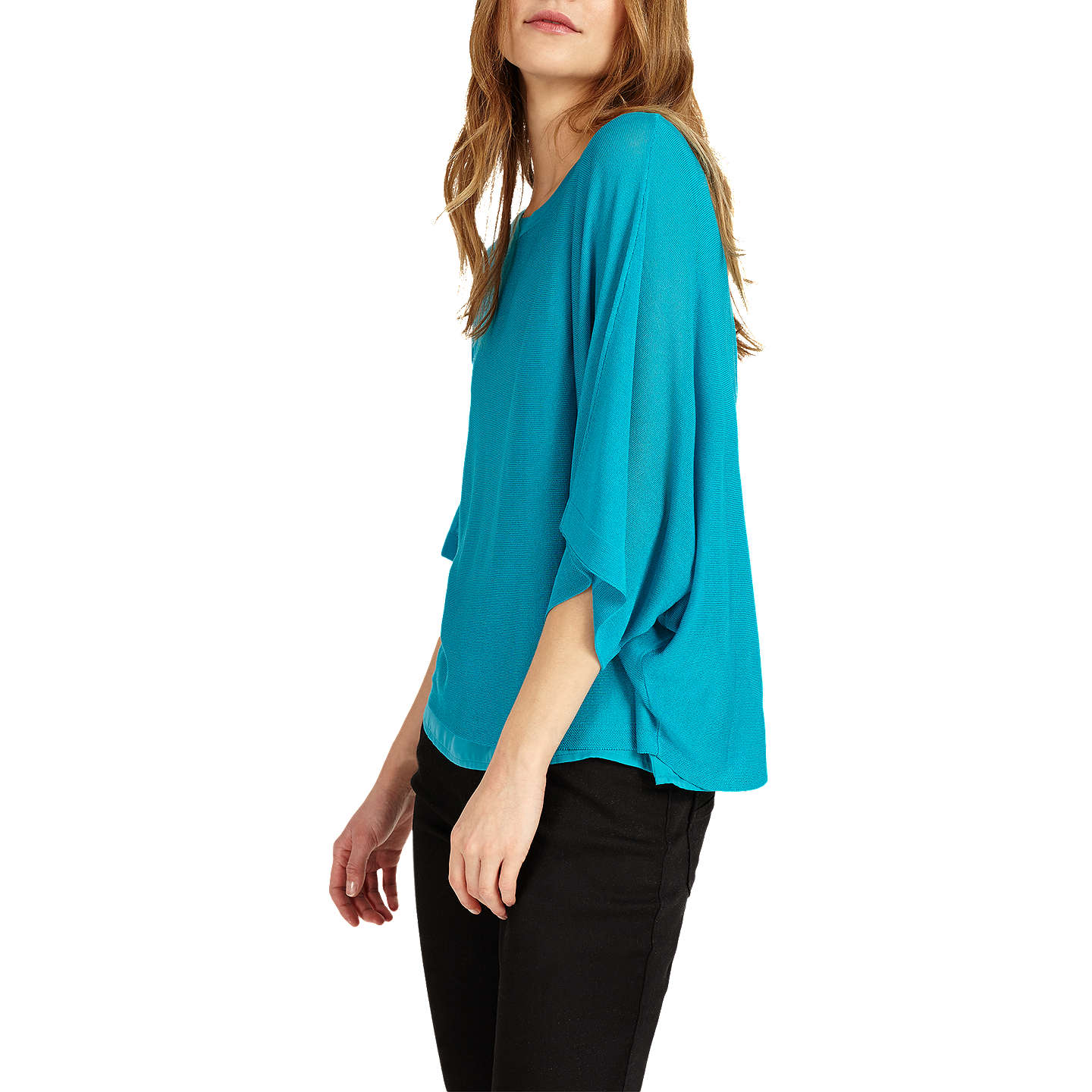 BuyPhase Eight Gisella Double Layer Jumper, Aqua, XS Online at johnlewis.com