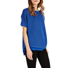 Buy Phase Eight Tape Yarn Macey Knitted Top, Persian Blue Online at johnlewis.com