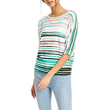 Buy Phase Eight Gwyn Stripe Jumper, Green Online at johnlewis.com