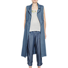 Buy French Connection Indi Bour Seamless Coat, Indigo Online at johnlewis.com