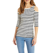 Buy Phase Eight Cynthia Cold Shoulder Top, Ivory/Navy Online at johnlewis.com