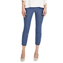 Buy Phase Eight Senia Zip Cropped Trousers, Blue Online at johnlewis.com