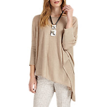 Buy Phase Eight Melinda Asymmetric Linen Jumper, Natural Online at johnlewis.com
