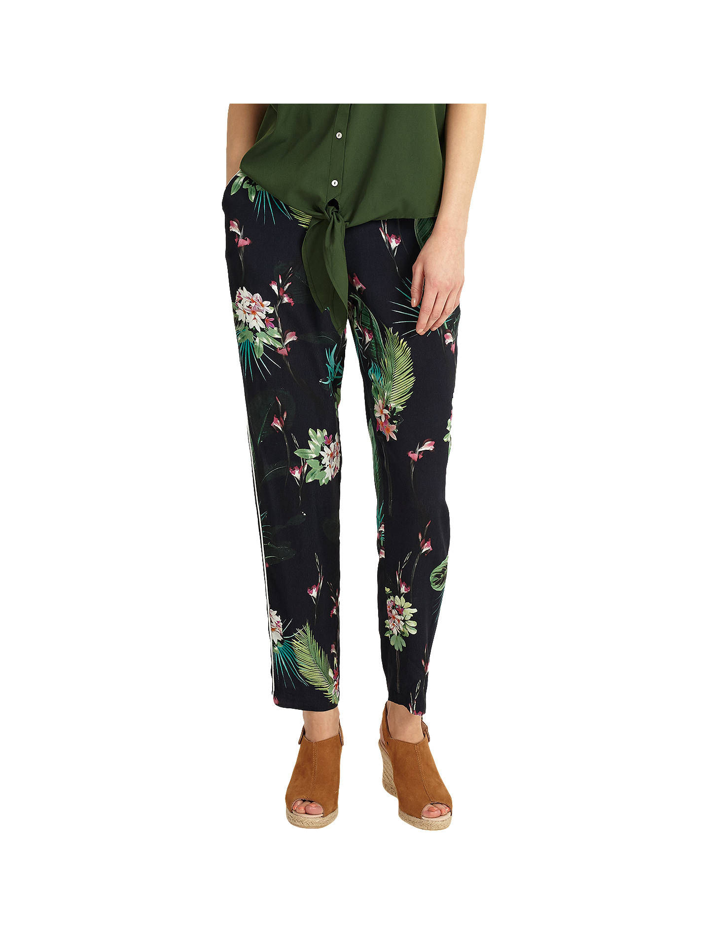 BuyPhase Eight Mila Tropical Print Trousers, Multi, 8 Online at johnlewis.com