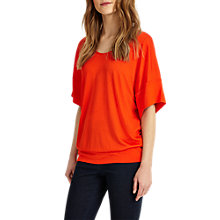 Buy Phase Eight Bay Batwing Top, Orange Online at johnlewis.com