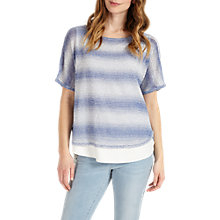 Buy Phase Eight Macey Space Dye Stripe Knitted Top, Blue/White Online at johnlewis.com