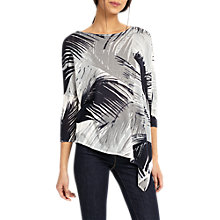 Buy Phase Eight Arizona Fern Print Jumper, White/Grey Online at johnlewis.com