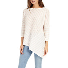 Buy Phase Eight Alice Asymmetric Top, Pink/Ivory Online at johnlewis.com