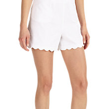 Buy Phase Eight Shelley Scallop Shorts, White Online at johnlewis.com