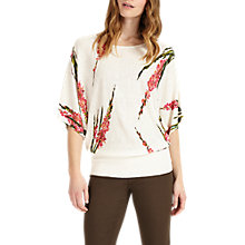 Buy Phase Eight Lupin Floral Blouson Jumper, White Online at johnlewis.com