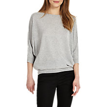 Buy Phase Eight Becca Batwing Jumper, Silver Online at johnlewis.com