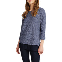 Buy Phase Eight Trudy Textured Top, Blue/White Online at johnlewis.com