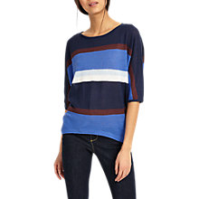 Buy Phase Eight Sarah Striped Knitted Top, Blue Online at johnlewis.com