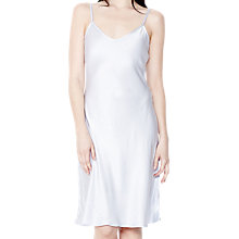 Buy Ghost Jo Satin Slip Dress, Pearl Grey Online at johnlewis.com