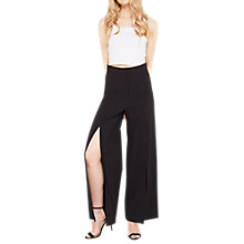 Buy Miss Selfridge Split Wide Leg Trousers, Black Online at johnlewis.com
