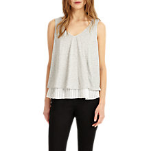 Buy Phase Eight Peta Frill Hem Top, Grey/Ivory Online at johnlewis.com