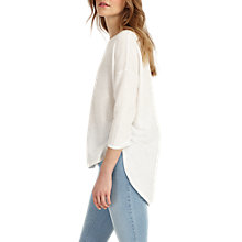 Buy Phase Eight Megg Curve Hem Jumper, Ivory Online at johnlewis.com