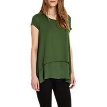 Buy Phase Eight Ciera Cap Sleeve Top, Moss Online at johnlewis.com