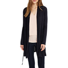Buy Phase Eight Lara Linen Cardigan, Navy Online at johnlewis.com